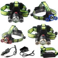 3x T6 LED Headlamp 35000LM LED Headlight 18650 Head Light Lamp Flashlight Torch