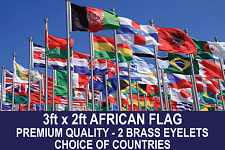 AFRICAN COUNTRY FLAG 3FTx2FT QUALITY POLYESTER FLAGS CHOSE YOUR DESIGN