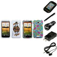 For HTC One X Design Snap-On Hard Case Phone Cover Headphones