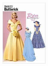 BUTTERICK PATTERN B6022 VINTAGE 50's SPECIAL OCCASION DRESS WEDDING GOWN SZ 6-22