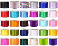 1.5mm 70M Silky Satin Nylon Beading Cord String Rattail Kumihimo Thread String