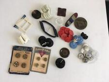 Large lot vintage buttons art deco Eugenia Le chic red black  carded sets