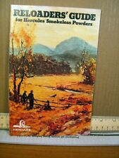 Booklet Reloaders' Guide for Hercules Smokeless Powders 1978 (Softcover)