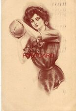 1911 J. Knowles Hare, Jr. illustration FEMALE VOLLEYBALL? PLAYER