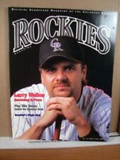 Rockies Scorecard Magazine Vol 9 No 3 June 2001 Larry Walker