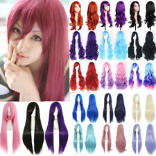 Full Hair Cosplay Wig Long Synthetic Hair Anime Party Costume Cosplay Halloween