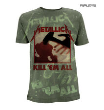 Official Olive Green T Shirt Metallica Album KILL EM ALL All Over All Sizes