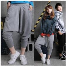 Mens Womens Casual Harem Baggy Tomboys Hip Hop Dance Sweat Pants Slacks Trouser