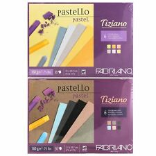 Tiziano Artists Coloured Pastel Paper 30 Sheets 160gsm A4 pencil charcoal