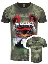 Metallica Master Of Puppets All Over Print Men's Charcoal T-shirt