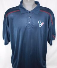 NEW Mens NFL Team Apparel Houston Texans TX3 Cool Navy Polo Golf Style Shirt