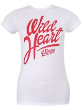 The Vamps Wild At Heart Ladies White T-Shirt - NEW & OFFICIAL
