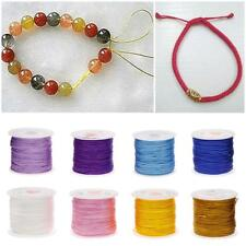 0.8mm Nylon Cord Thread Chinese Knot Macrame Rattail Bracelet Braided String