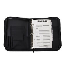 Trident 3-Ring, Zippered, Canvas Dive Log Book / Organizer