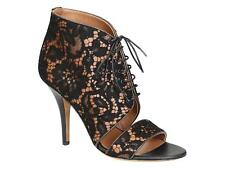 Givenchy high heels black lace fabric lace up sandals shoes