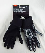 Nike Woman's Element Thermal Run Gloves Size S, M Or L NWT Black White Design