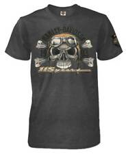 Harley-Davidson Men's 115th Anniversary Aviator Skull Short Sleeve T-Shirt, Gray