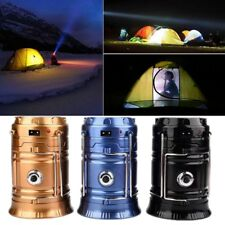 Rechargeable Outdoor Collapsible Solar Camping Lantern Light LED Hand Lamp Light