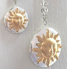 You Are My Sunshine Sun Pendant Locket Mother Daughter Necklace Gift Anniversary