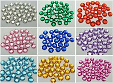 200 Acrylic Flatback Faceted Round Rhinestone Gems 10mm No Hole Color for Choice