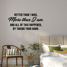 Wall Decal Better Than I Was More Than I Am Vinyl Sticker GD367