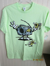 DELTA PRO WEIGHT T SHIRT SIZE M & L GREEN MUSIC NWT