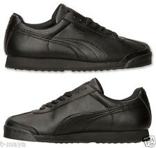 PUMA ROMA CASUAL SHOE M LEATHER BLACK - BLACK BRAND NEW IN BOX SELECT YOUR SIZE