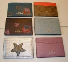 COACH CREDIT CARD CASE ID CASE NWT  ASSORTMENT OF 6 STYLES TO CHOOSE