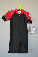 Radicool Rash Guard SPF UPF Swimwear Black Red Surfing Wetsuit - Size 12-24 2 4