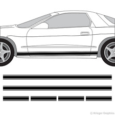 Pontiac Firebird & Trans Am Rocker Panel Racing Stripes 3M Vinyl Decal Kit