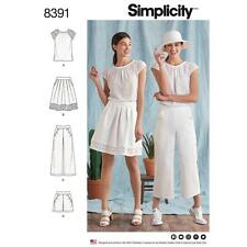 SIMPLICITY SEWING PATTERN MISSES' TOP SKIRT & PANTS OR SHORTS SIZE 6 - 24 8391