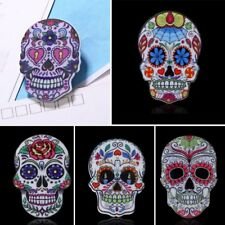 1 PC Fashion Woman Printing Skull Head Collar Brooch Pin Lady Party Jewelry Gift