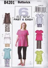 Butterick Sewing Pattern 6 Fast Easy Maternity Top Shorts Pants Size 8 -18 B4201