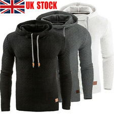 UK Mens Hooded Casual Hoodies Pullover Sweatshirt Jumper Sweater Coat Sport Tops