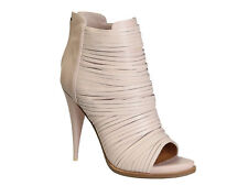 Givenchy high heeled open toe ankle boots in Light Pink Calf leather