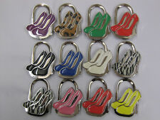 CHOICE OF STUNNING SHOE SHAPED PRETTY HANDBAG TABLE HOOK HOLDER 2 IN 1 ACCESSORY