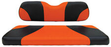 Custom Golf Cart Front Seat Covers BLACK/ORANGE Club Car EZGO Yamaha
