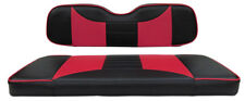 Custom Golf Cart Front Seat Covers BLACK/PINK Club Car EZGO Yamaha Marine Vinyl