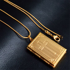 New Gifts Fashion Cross Bible Box Pendant  Necklace Chains Crosses Christian