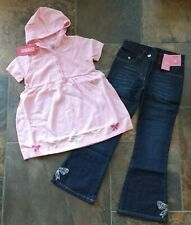 NWT Size 8 Gymboree CLASSROOM KITTY Jeans Pants Sweater Purrfect Pink Top Lot