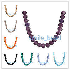 12mm Rondelle Faceted Crystal Bead Loose Glass Spacer Beads Jewelry Findings