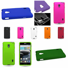 Hard Rubber Snap On Rigid Plastic Phone Case For LG Optimus F6 Shell Cover