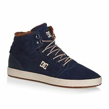 DC Trainers - DC Crisis High Winter Shoe Trainers - Navy/camel