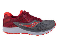 NEW WOMENS SAUCONY RIDE 10 RUNNING SHOES GREY / BERRY
