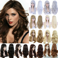 Fashion Halloween Cosplay Full Wig Long Curly Wave Hair Costume Dress Wigs Jjr4