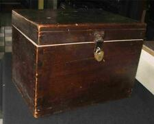 Antique Mid 19th Century Document Box Dovetails Brass Heart Shape Lock