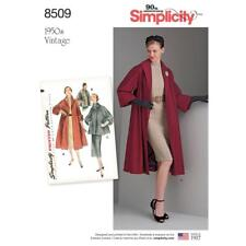 SIMPLICITY SEWING PATTERN MISSES' 1950's VINTAGE LINED COAT JACKET 6 - 22 8509
