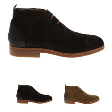 Mens H By Hudson Matteo Casual Smart Office Suede Shoes Chukka Boots US 7-13