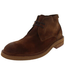 Mens H By Hudson Corelli Chukka Smart Office Suede Brown Ankle Boots UK 6-12