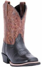 Dan Post LITTLE RIVER 01-DPC3944-BK3 Youth Black/Brown Vamp Western Cowboy Boots